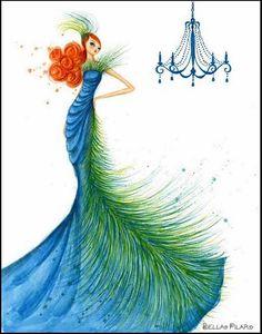 Bella Pilar Blue Peacock dress.