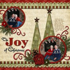 Christmas scrapbook layout.