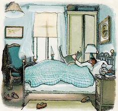 Jensen & Cat by Lenore Blegvad, illustrated by Erik Blegvad Children's Book Illustration, Conte, Cat Art, Book Art, Art Drawings, Artwork, Painting, West Egg, Anita Jeram