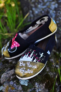 Hand Painted Disney Toms by KicksByClutch on Etsy, $80.00