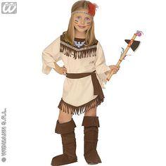 Disfraz de India Nativa #disfraces #carnaval #infantil
