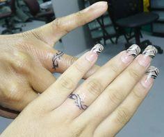 wedding ring Tattoo Ideas | Wedding Finger Tattoos : Wedding Ring Tattoo Ideas for Alternative ...