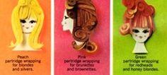 Clairol Christmas Gift Sets Ad -detail, 1966.