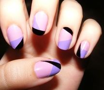 Inspiring picture nails, purple, black, girly, cosmetics. Resolution: 500x375 px. Find the picture to your taste!