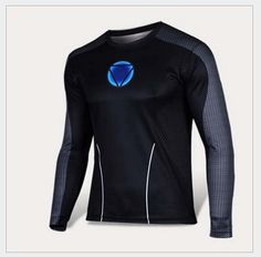 Iron Man Mans Patchwork T Shirts Long Sleeve High Elastic Fast Dry Stylish Print Shirts Water Proof Sport Riding Outdoor Tops from Smartmart,$12.17 | DHgate.com