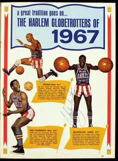Meadowlark Lemon Harlem Globetrotters | ... Harlem Globetrotters Yearbook Signed by (6) Incl. Meadowlark Lemon
