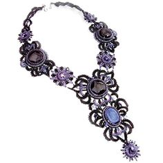 Bib-Style Necklace with Seed Beads, Agate Gemstone Cabochons and SWAROVSKI ELEMENTS - Fire Mountain Gems and Beads