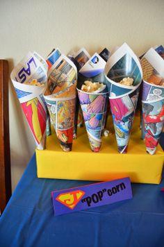 "Imperfect & Fabulous: ""POP""corn in comic book cones"