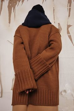 FW16 collection Basic ADER cardigan in camel www.adererror.com #ader#fashion#brand#camel#layered#styling
