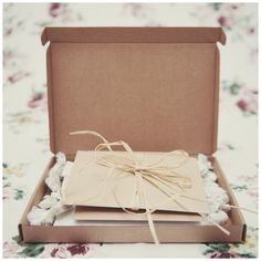 Handmade and sustainably sourced wedding photography packaging by Rebecca Douglas Photography