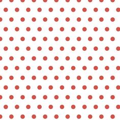 Cranberry Polka Dot. Cranberry red dots punctuate a crisp white background.