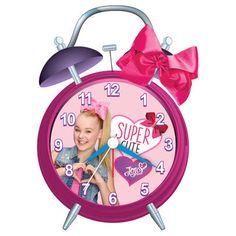 JoJo Siwa Twin Bell Alarm Clock with Bow