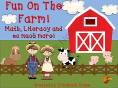 Fun On The Farm- 12 activities included! from Elizabeth Hodge on TeachersNotebook.com (120 pages)