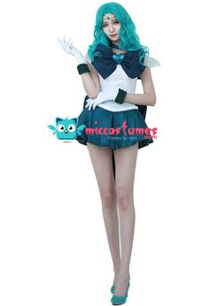 Sailor Moon Kaiou Michiru Sailor Neptune Cosplay Costume SuperS Version sales at miccostumes.com for cosplayers.
