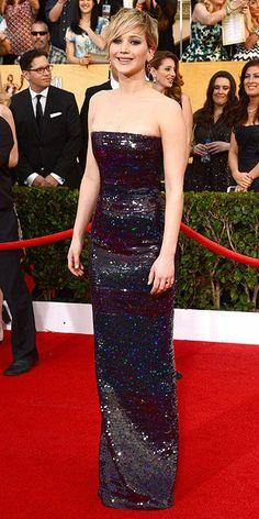 Jennifer Lawrence in Dior (more SAG awards fashion today on chicityfashion.com)