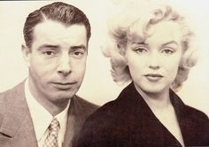 Marilyn Monroe and Joe DiMaggio passport photos for their trip to Japan, 1954