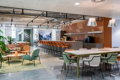 Inside Central Working's Cool Coworking Space in Reading - Officelovin' Workspace Design, Office Interior Design, Office Interiors, Gray Interior, Interior Doors, Coworking Space, Cafeteria Design, Cool Office Space, Office Space Design