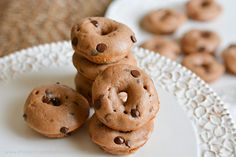 Protein Treats By Nicolette : Mini Peanut Butter Chocolate Chip Protein Donuts