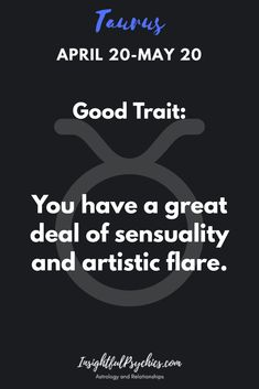 Taurus Good Trait artistic flare with a mix of sensuality