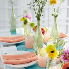 Mixed Vases Centerpiece