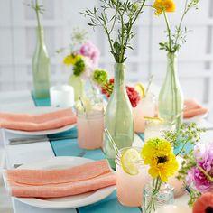 Mixed Vases Centerpiece