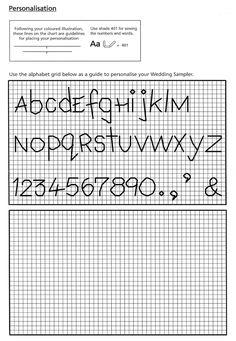 Schema Punto Croce Alfabeti E Numeri A Punto Scritto Fai Da Te E