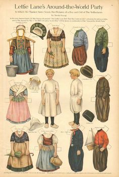 Lettie Lane Paper Doll by Sheila Young The Netherlands 1911 Art Print | eBay