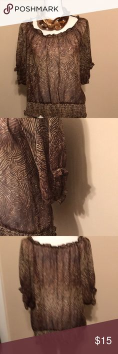 "Michael Kors leopard print blouse Michael Kors leopard print blouse, 25"" long, 25 1/2"" pit to pit, s-01 MICHAEL Michael Kors Tops Blouses"