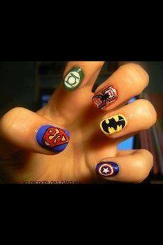 Nail art <3 super heroes