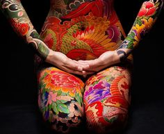 Miss Ko by Philippe Starck, an Asian restaurant in the epicenter of Paris. Dope Tattoos, Body Art Tattoos, Miss Ko, Asian Restaurants, Fantasy Hair, Irezumi, Tattoo You, Japanese Art, Body Painting