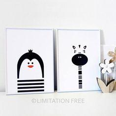 Penguin Nursery Art Digital Download Nursery Print Kids Art