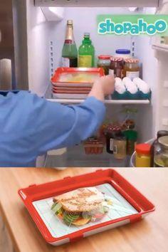 Cool Kitchen Gadgets, Home Gadgets, Kitchen Hacks, Cool Kitchens, Kitchen Organization, Kitchen Storage, Food Storage Boxes, Plastic Wrap, Food Fresh