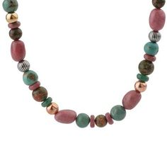 Carolyn Pollack Radiance Mixed Metal Beaded Necklace, #GSJ