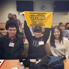Welcome to #Pittsburgh! Rocking the #terribletowl at our Open House today. #steelers #studentlife #openhouse #admitted #carnegiemellon #iniopenhouse2016