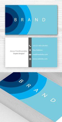 Modern Business Card Template #branding #businesscardtemplates #businesscards #visitingcard