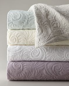 """Hannah"" Matelasse Coverlet Sets by SFERRA at Horchow."