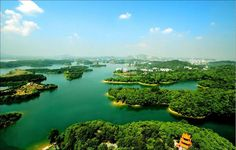 Scenery of Lushui Lake (陆水湖), central China's Hubei Province. via Discover China