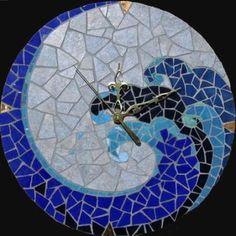 Wave mosaic clock