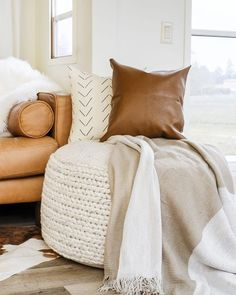 room decor Why You Need A Pouf For Your Living Room + How to Style It 3 Ways The easiest way to make your small living room feel bigger and make your house look amazing! Use these decorating hacks to style your small living room with a pouf ottoman! Ottoman In Living Room, Living Room Interior, Living Room Furniture, Living Room Decor, Wooden Furniture, Luxury Furniture, Antique Furniture, Living Room Hacks, Dining Room