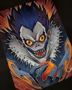 Death Note Ryuk, Death Note Fanart, Anime Character Drawing, Manga Drawing, Arte Do Kawaii, Kawaii Anime, Space Drawings, My Drawings, Anime Artwork