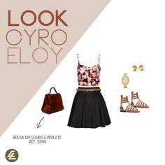 Look criado para a nossa linda bolsa de couro Cyrolete.
