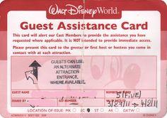 Guest Assistance Card