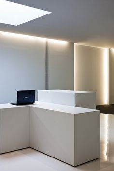 Perfect lighting and white space inside the Acer office in Barcelona by architect Francesc Rife _