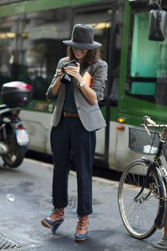 Garance Doré, a street style photographer from Paris is often the subject of other people's photos for her impeccable sense of style.