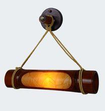 Style chinois Antique Salon Bambou En Bois Mur Lampe Restaurant Créatif Lampe de Mur Du Couloir Livraison Gratuite(China (Mainland))
