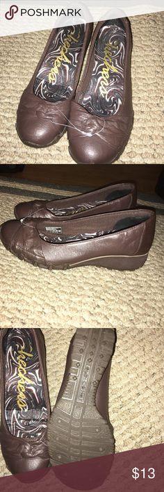 skechers ballet flats brown