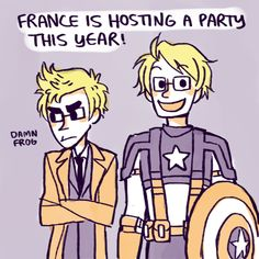 ASK USUK - England as the 10th Doctor and America as, of course, Captain America!