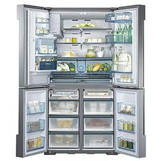 Samsung 34 cu. ft. Chef Collection 4-Door French Door Refrigerator - Stainless Steel ENERGY STAR® NEW Item !    Sears Item# 04680993000 ...
