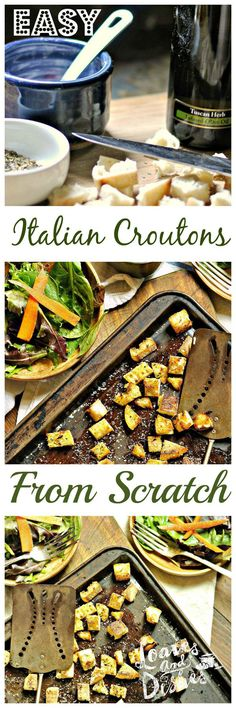 Want to have restaurant quality croutons for nearly FREE? Yes! You do! (I knew it!). Check out the simple and easy instructions at www.loavesanddishes.net
