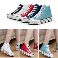 Korean Womens Colors Canvas Sneakers Classic Lace Up Shoes Casual Leisure Shoes